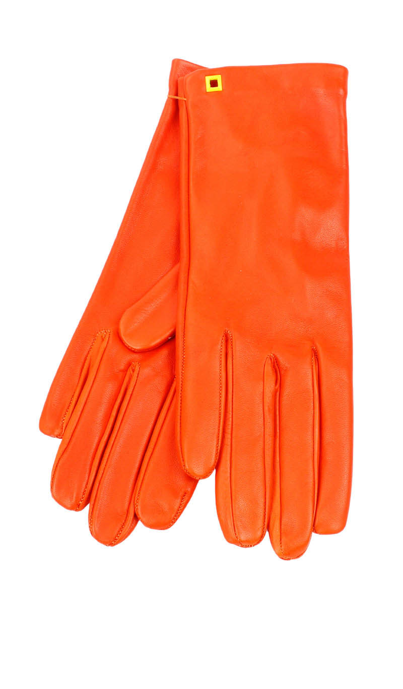 Women glove Classic Unlined Orange