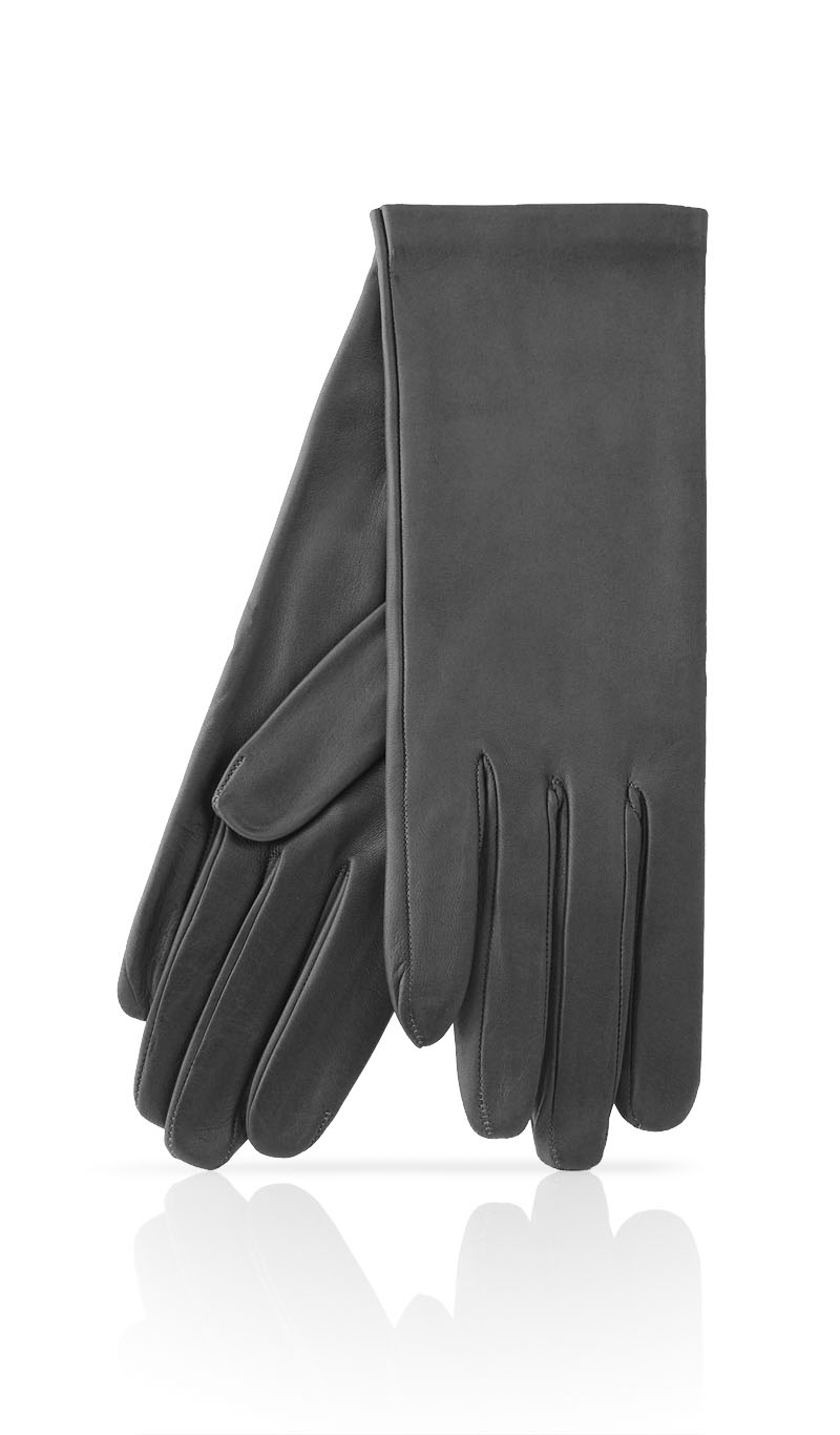 Women glove Classic Unlined Grey Dark