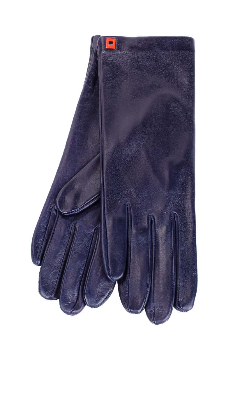 Women glove Classic Silk Lined Midnight Blue