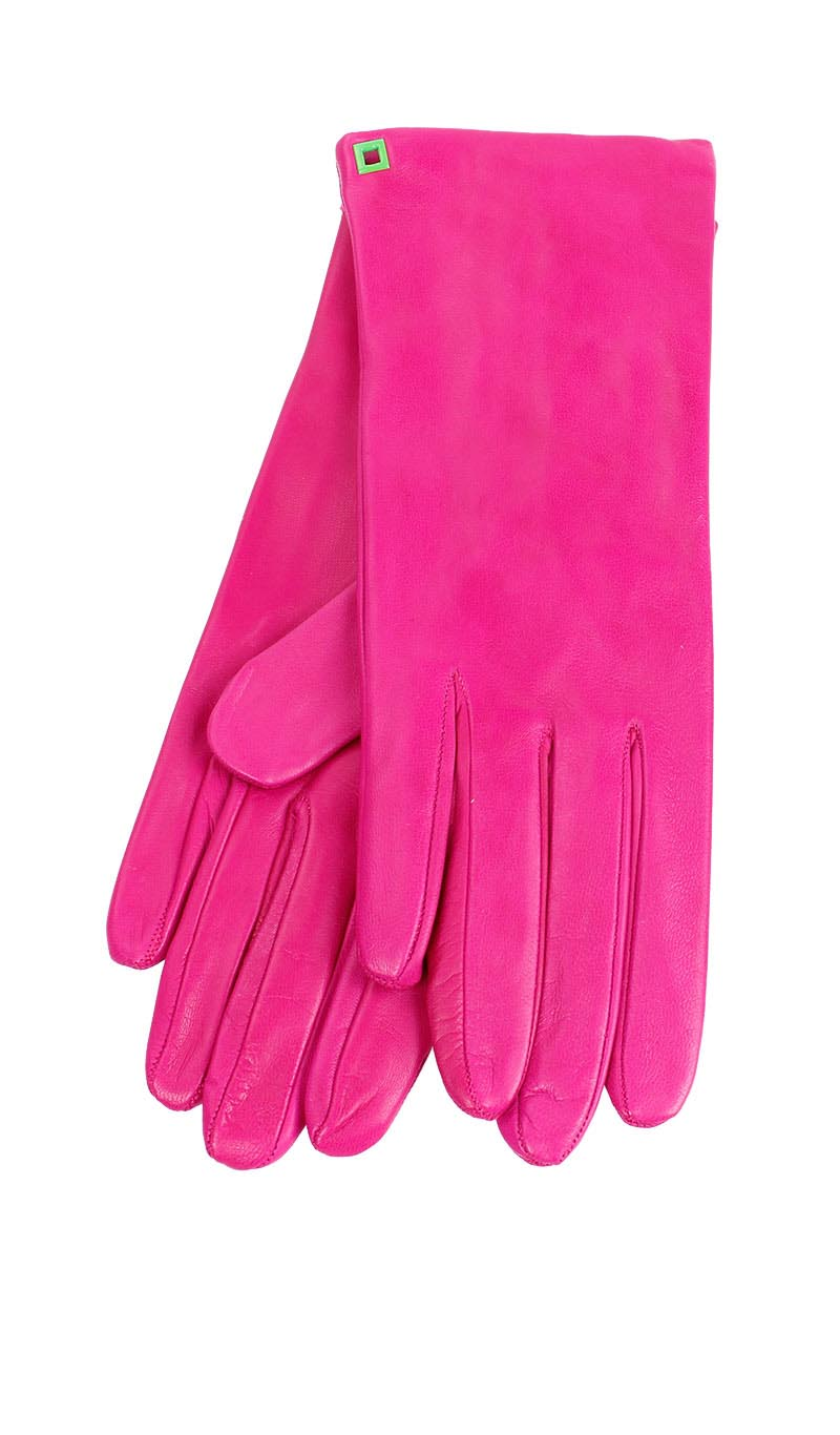 Women glove Classic Silk Lined Coral