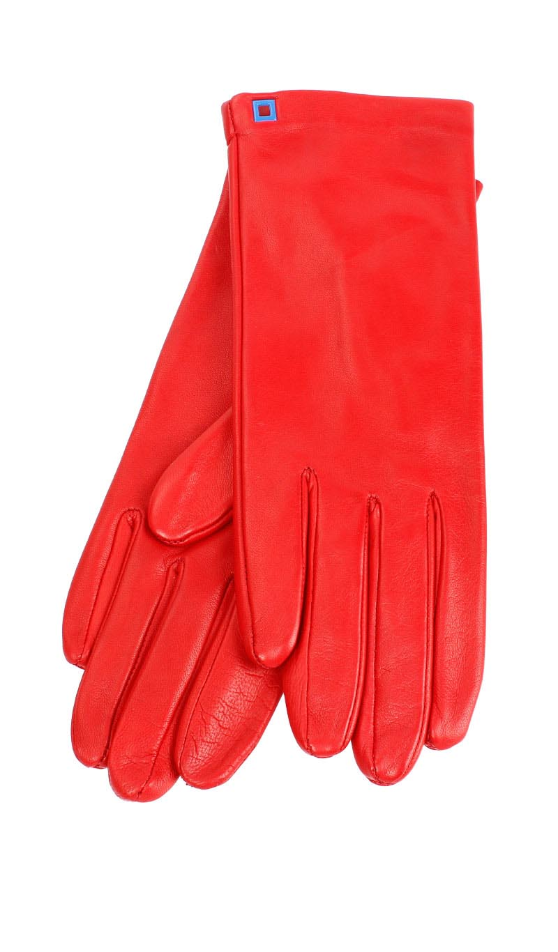 Women glove Classic Silk Lined Valentino Red
