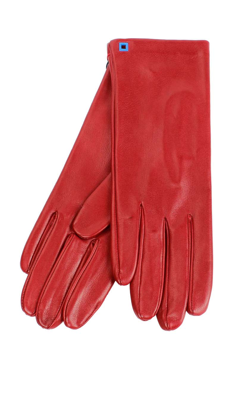 Women glove Classic Silk Lined Gucci Red