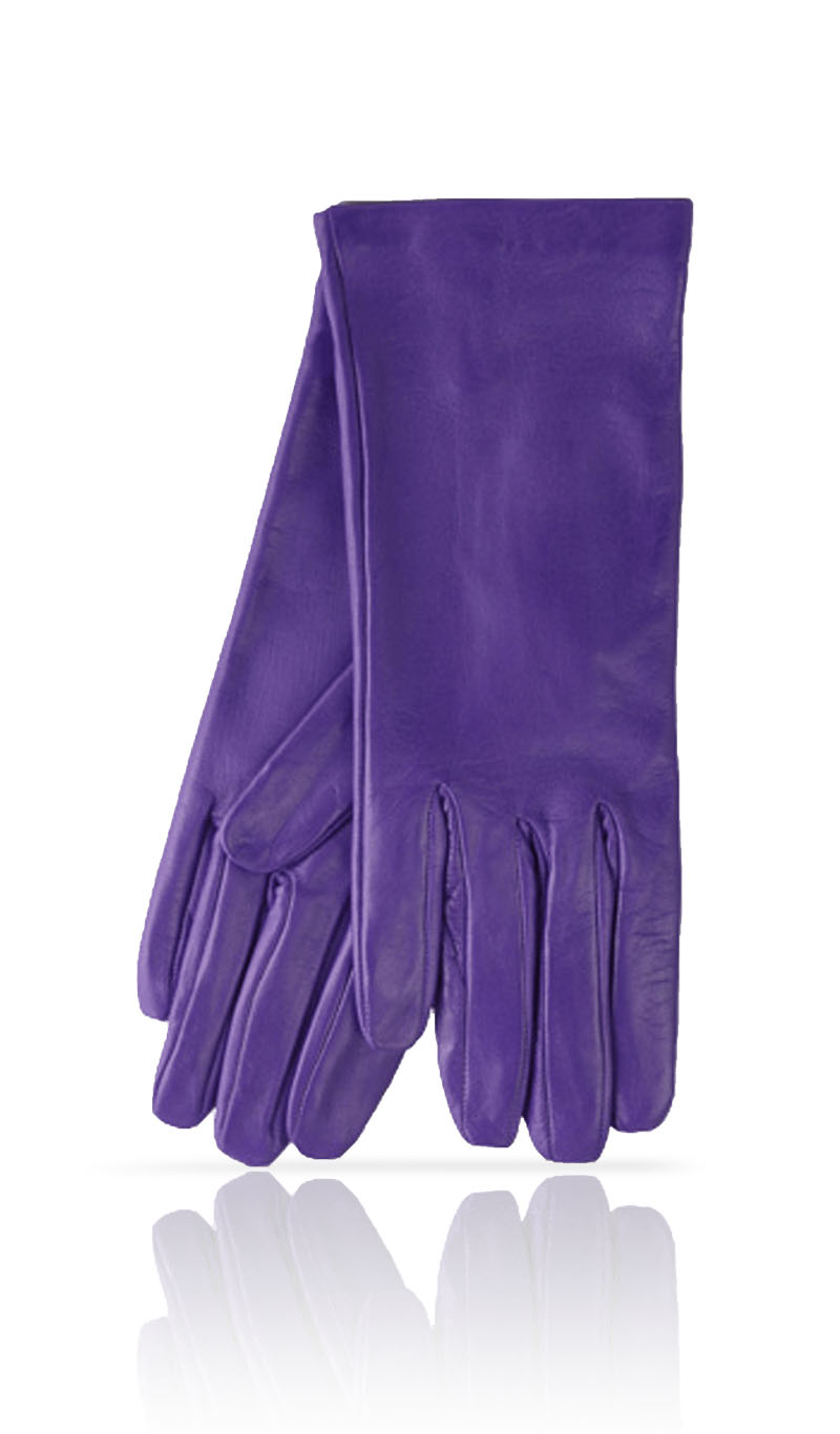 Women glove Classic Silk Lined Lilac