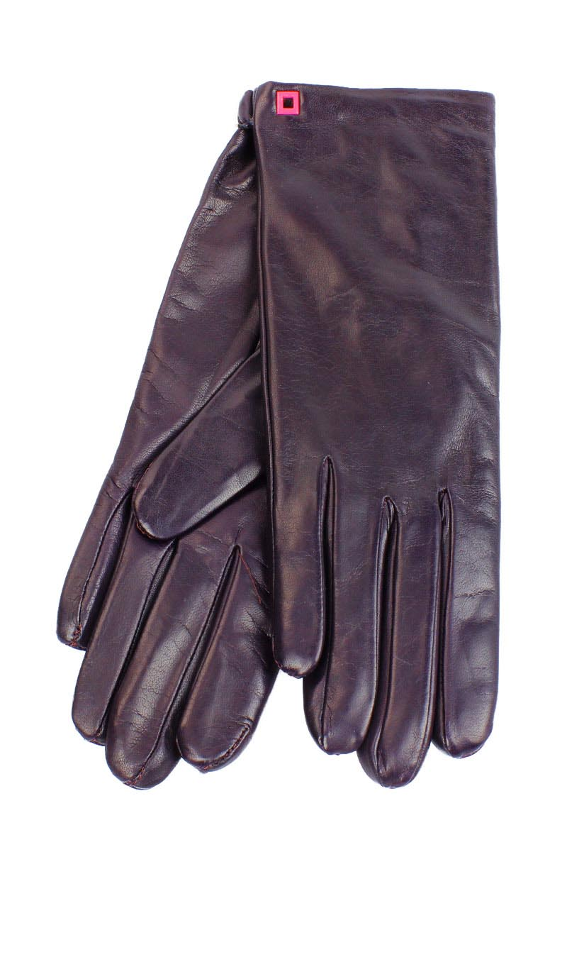 Women glove Classic Cashmere Lined Eggplant Purple