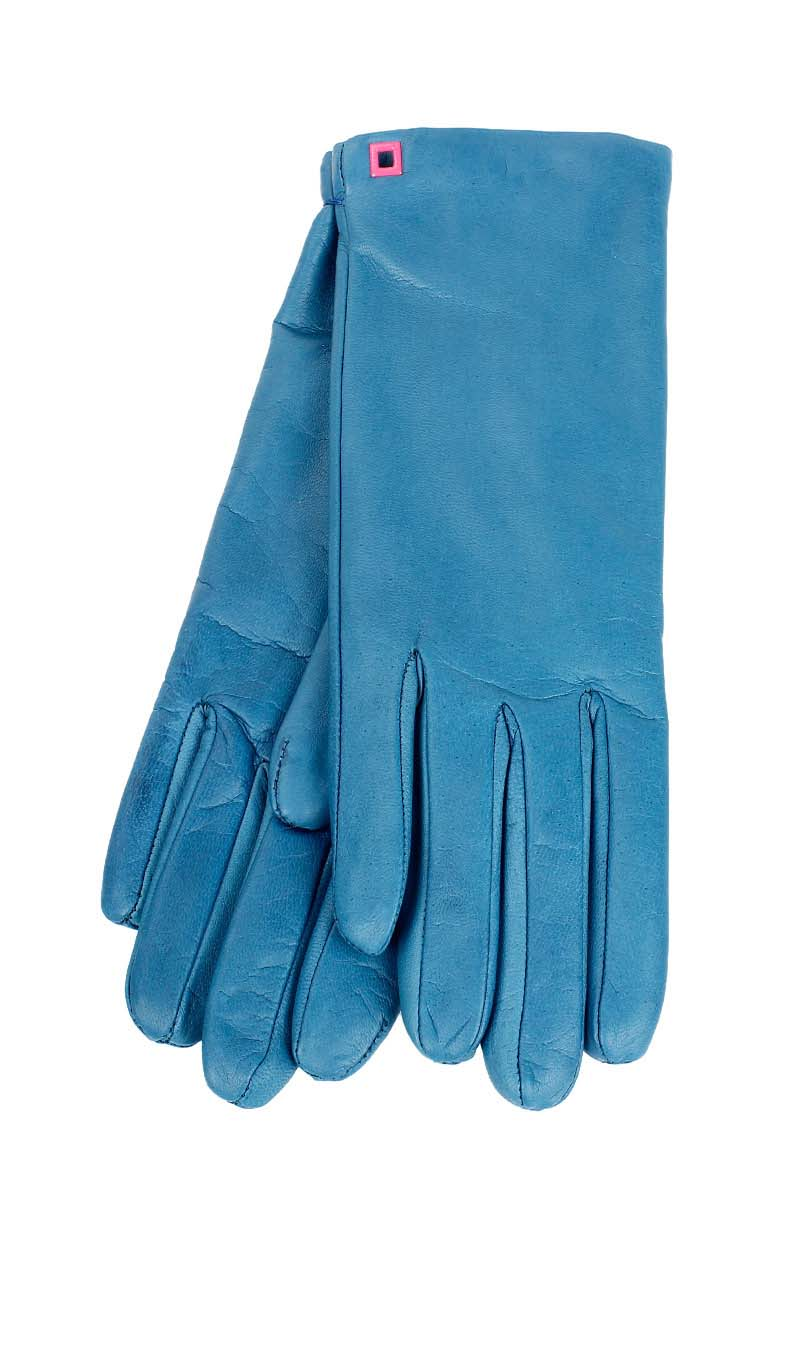 Women glove Classic Cashmere Lined Peacock Blue