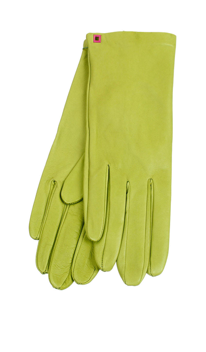 Women glove Classic Cashmere Lined Lime Green