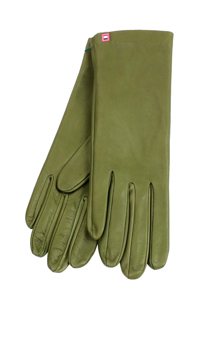 Women glove Classic Cashmere Lined Kaki Green