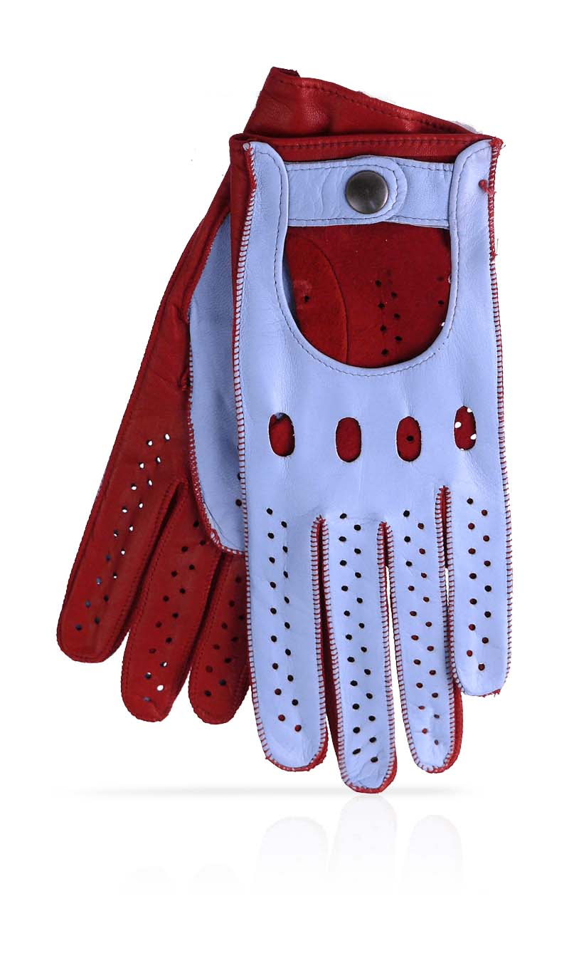 Red leather driving gloves womens - Women Glove Woman Driving Gloves Unlined Light Blue Ferrari Red
