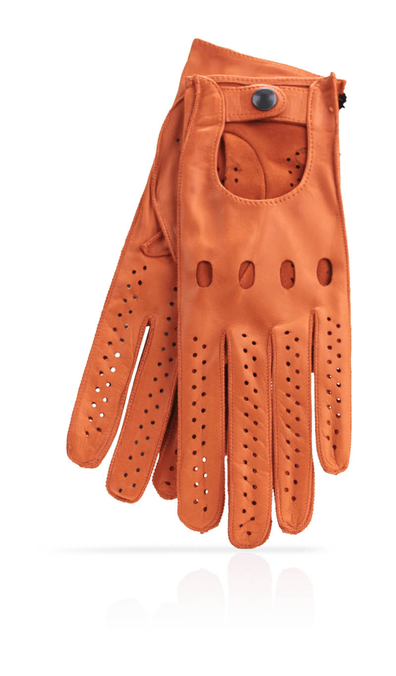 Women glove Woman Driving Gloves Unlined Orange/Orange