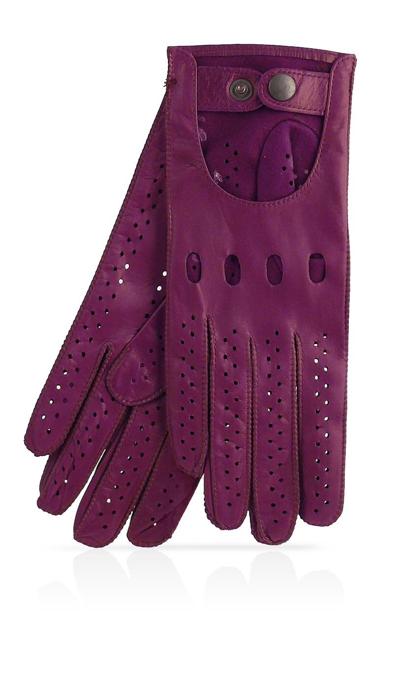 Women glove Woman Driving Gloves Unlined Eggplant Purple/Eggplant Purple