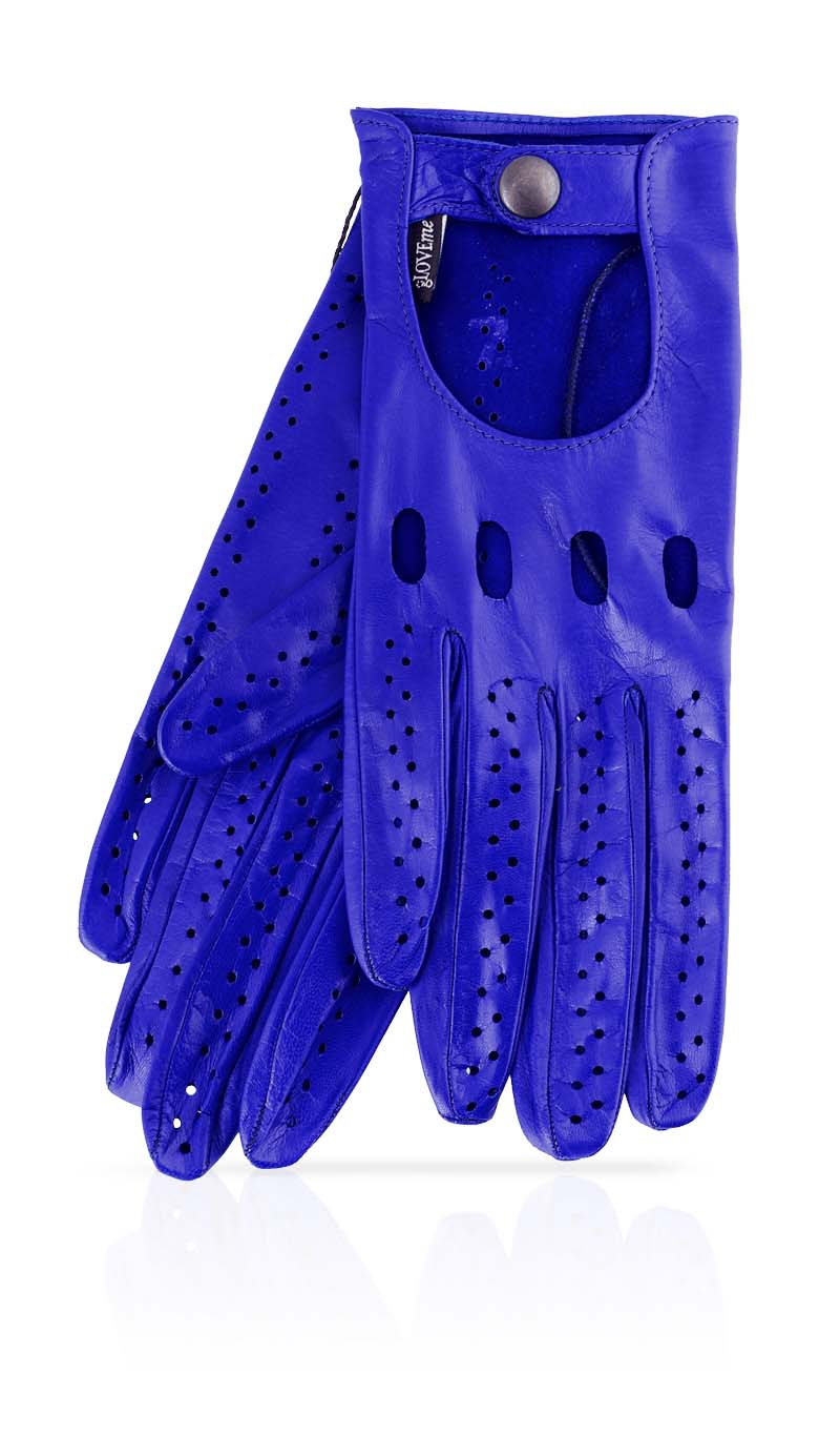 Women glove Woman Driving Gloves Unlined Electric Blue/Electric Blue