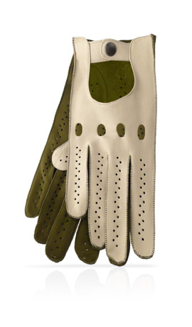 Woman Driving Gloves Unlined Desert/Kaki Green