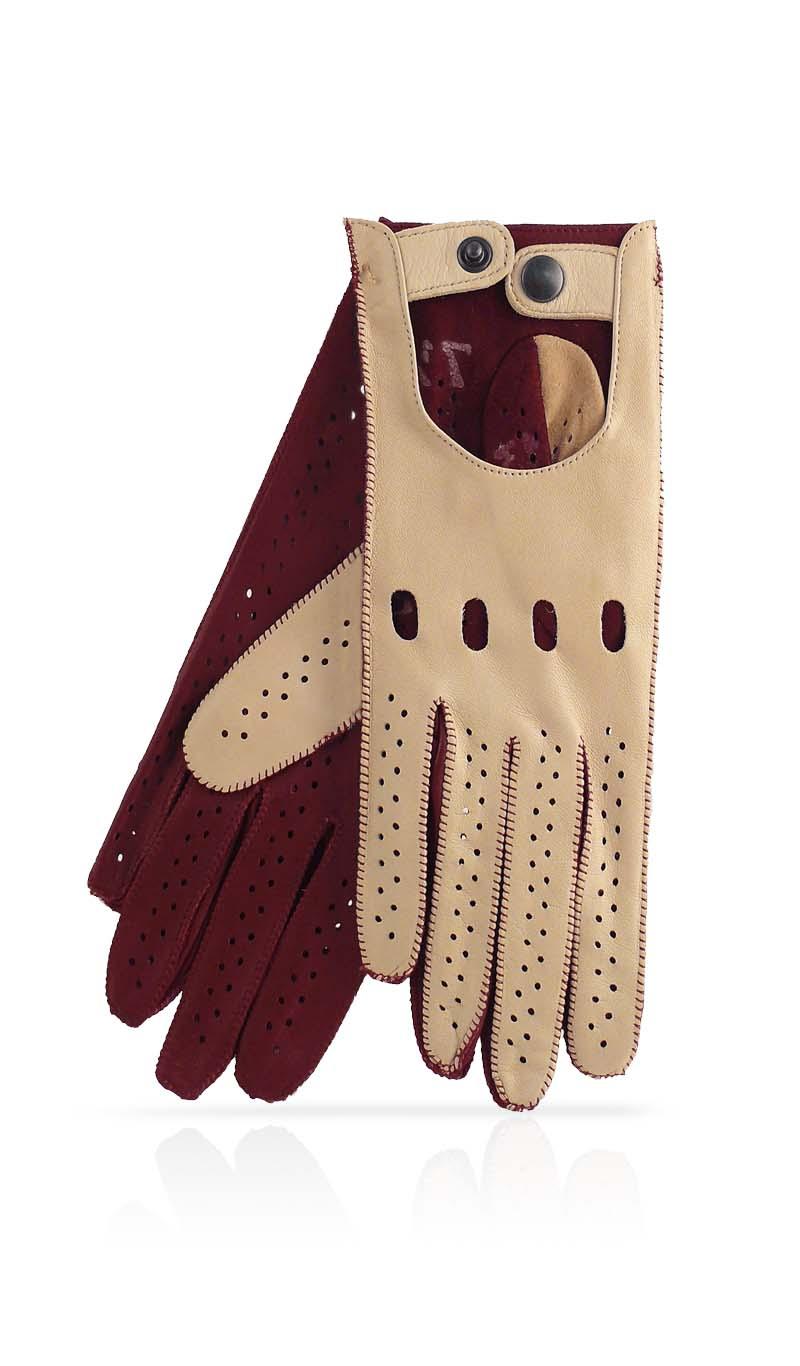 Womens beige leather gloves - Women Glove Woman Driving Gloves Unlined Beige Plum