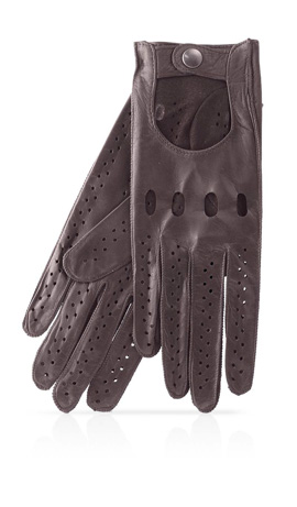 Woman Driving Gloves Unlined Dark Brown/Dark Brown