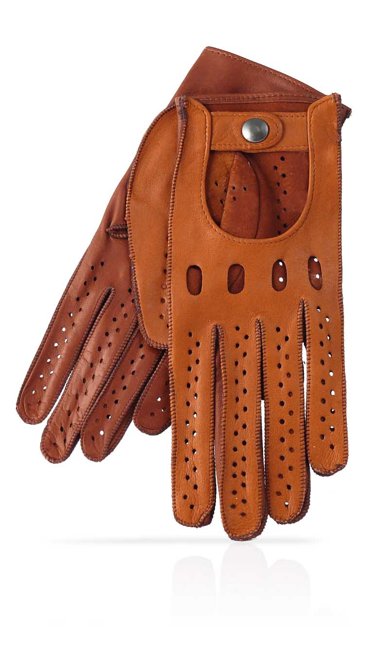 Women glove Woman Driving Gloves Unlined Tan/Tobacco