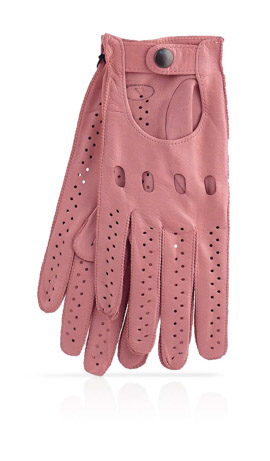 Woman Driving Gloves Unlined Baby Pink/Baby Pink