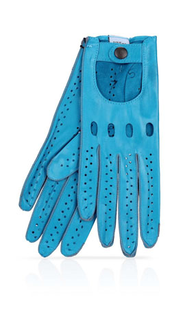 Woman Driving Gloves Unlined Blue Turquoise/Blue Turquoise