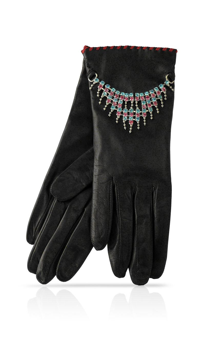 Women glove Bijou Black/Multicolor