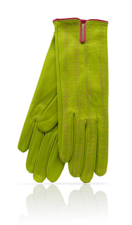 D46 Silk Lined Lime Green/Coral