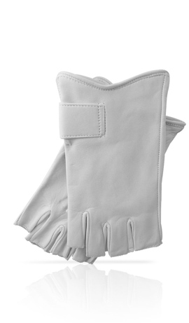Fingerless Woman White/White