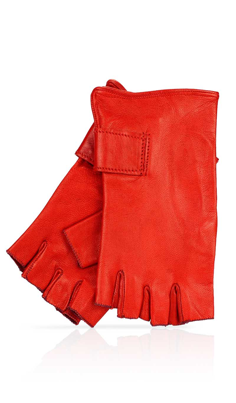 Women glove Fingerless Woman Valentino Red/Valentino Red