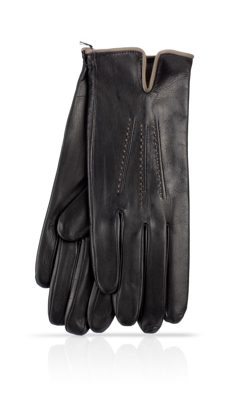 59e376221a0f Women glove Audrey Cashmere Lined Black Tortora gLOVEme