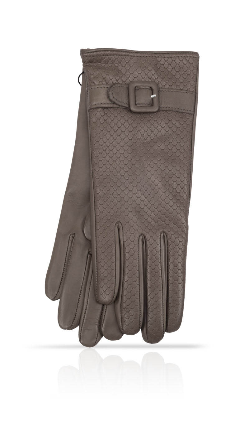 Women glove Dardy Pitone Cashmere & Silk Lined Mud