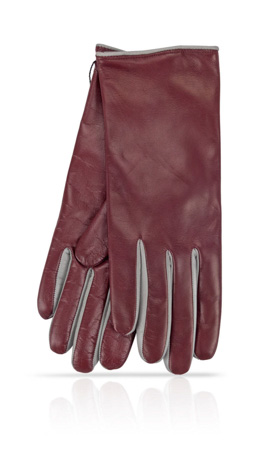 I-Glove Lady Between finger colors Cashmere Lined Cartier/Pearl grey