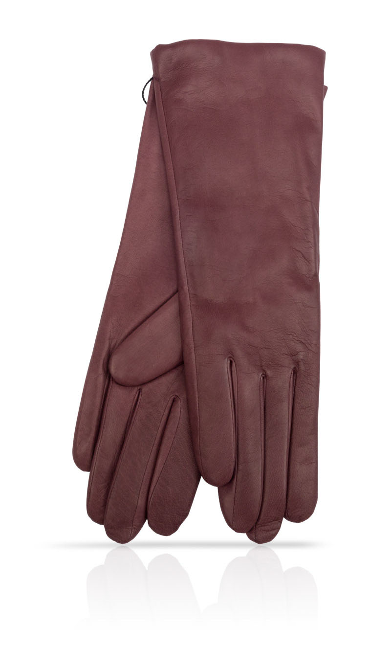 Women glove 4PL GBT Cashmere Lined Burgundy