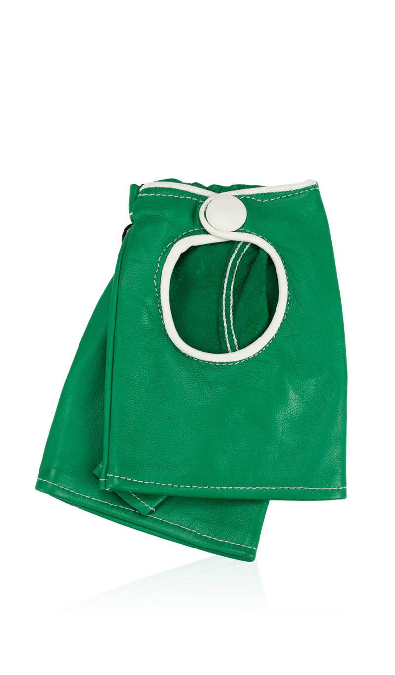 7aff947866b6 Women glove Sally Lady Fingerless Field Green White gLOVEme