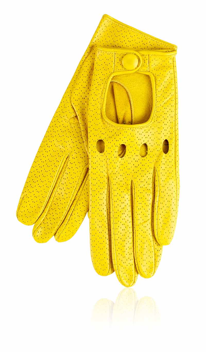 Guanto donna Grace Driving Lady Perforated Giallo