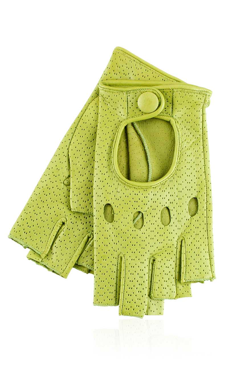 Guanto donna Grace Driving Lady Fingerless Perforated Verde Acido