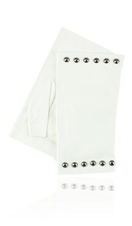 Posh Stud Fingerless White