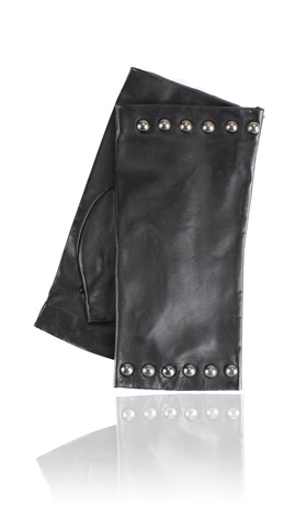 Posh Stud Fingerless Black
