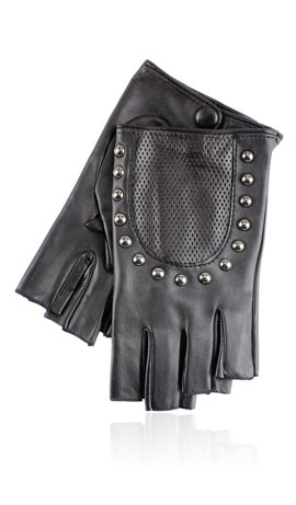 Charlotte Stud Fingerless Black
