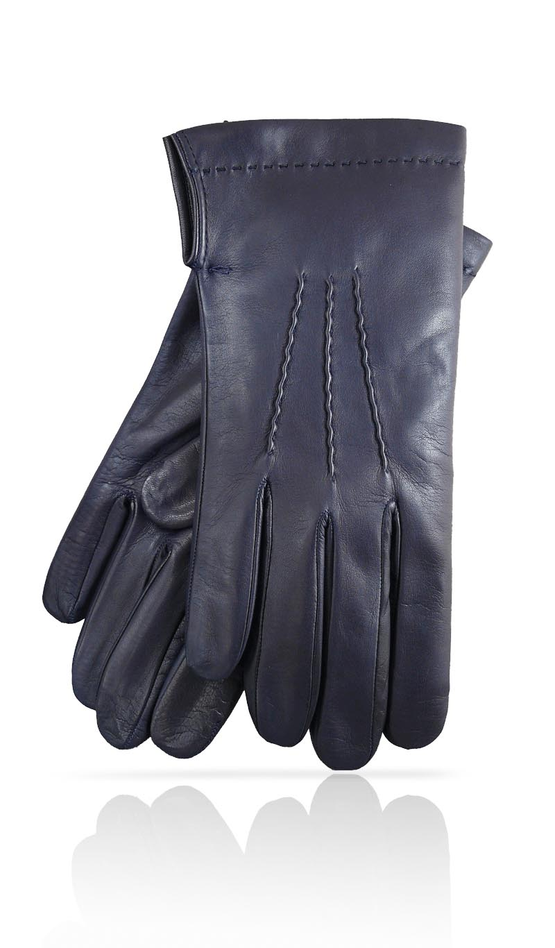 Men glove 3C Cashmere Lined Midnight Blue