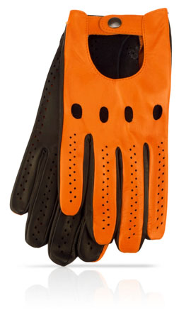 Man's Driving Gloves Orange/Black
