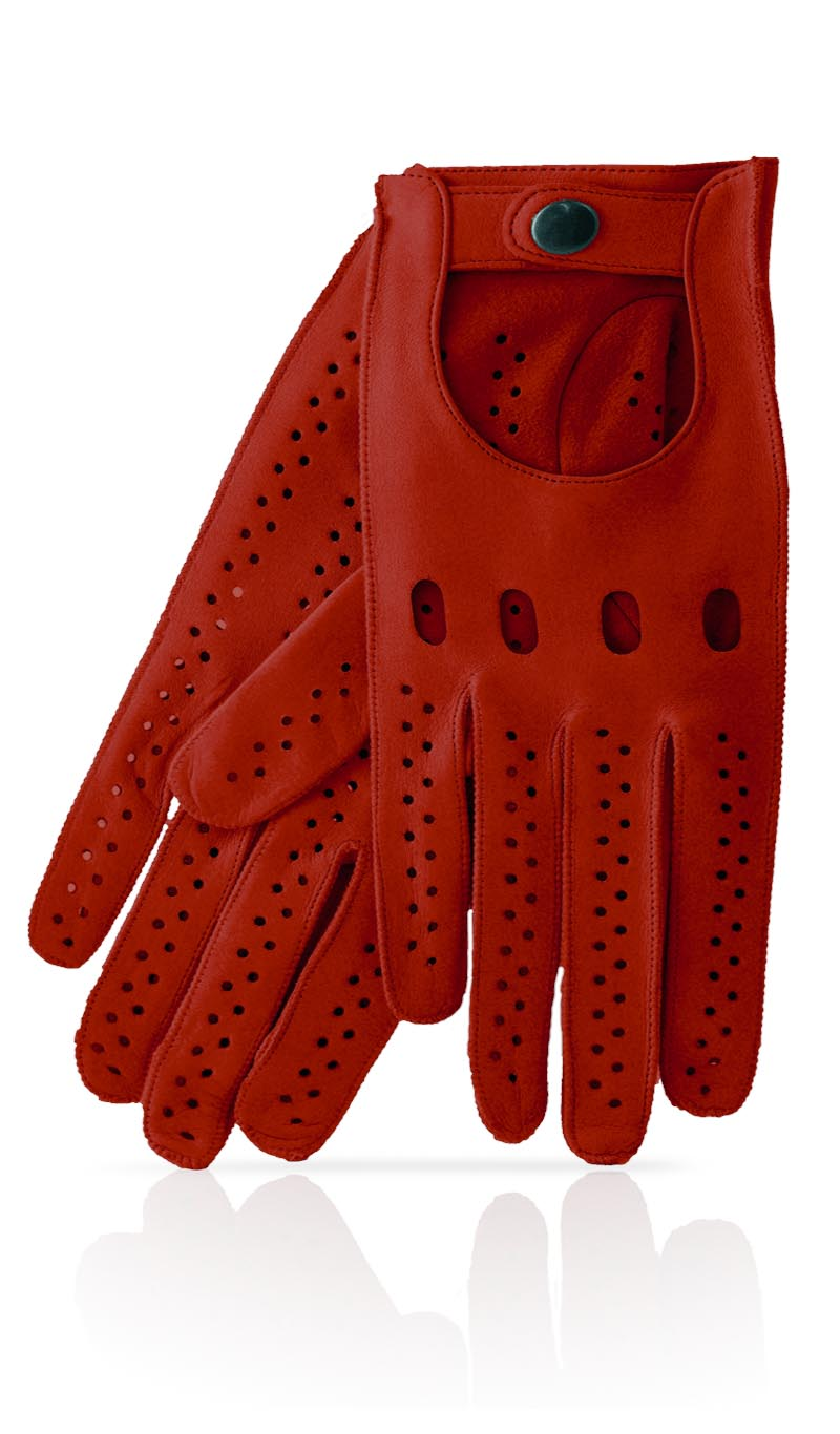 Red leather driving gloves mens - Men Glove Man S Driving Gloves Ferrari Red Ferrari Red