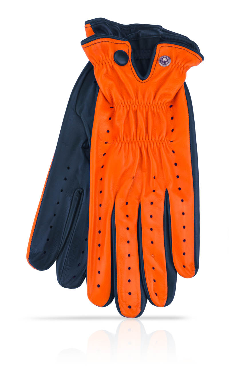Men glove Golf Man Orange/Midnight Blue
