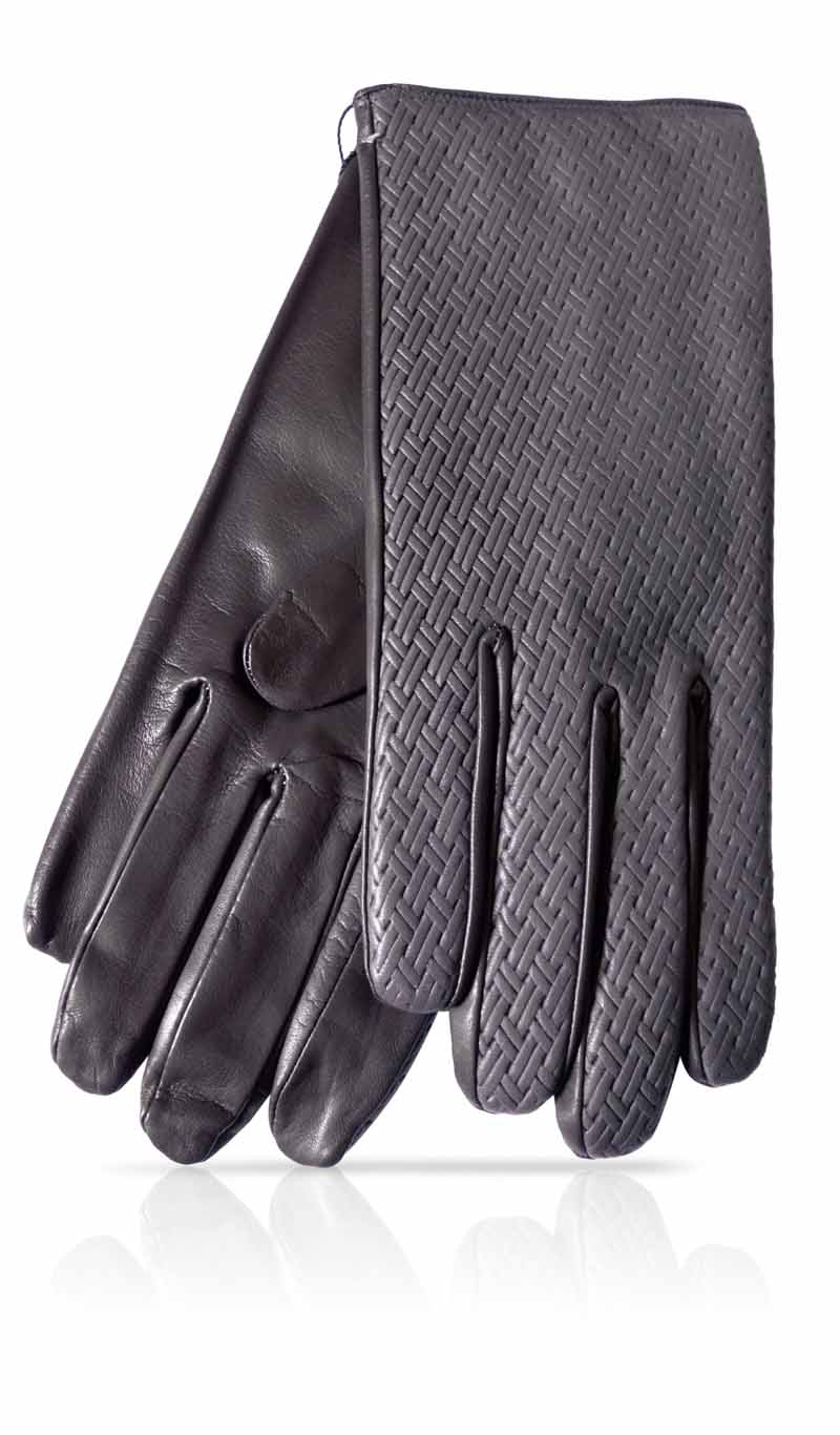 Men glove Woven M. Wool Lined Grey Dark/Grey Dark