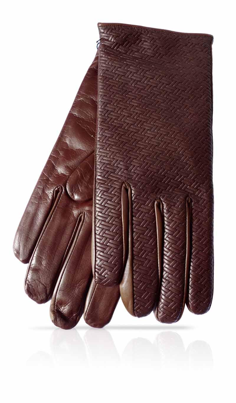 gant homme tress h doubl laine brou de noix marron gloveme. Black Bedroom Furniture Sets. Home Design Ideas