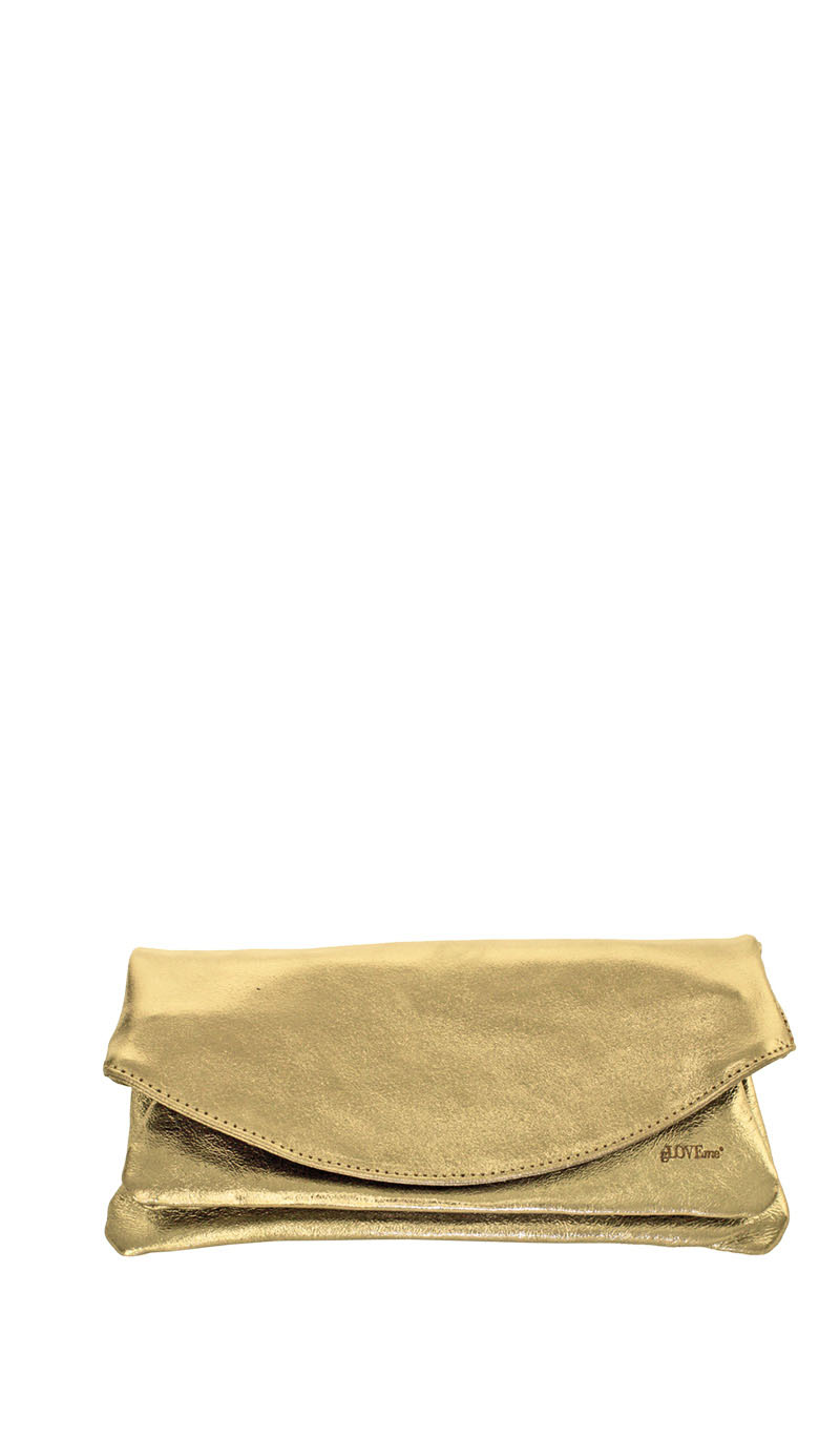 Sac PRISCA POCHETTE Or Metallic