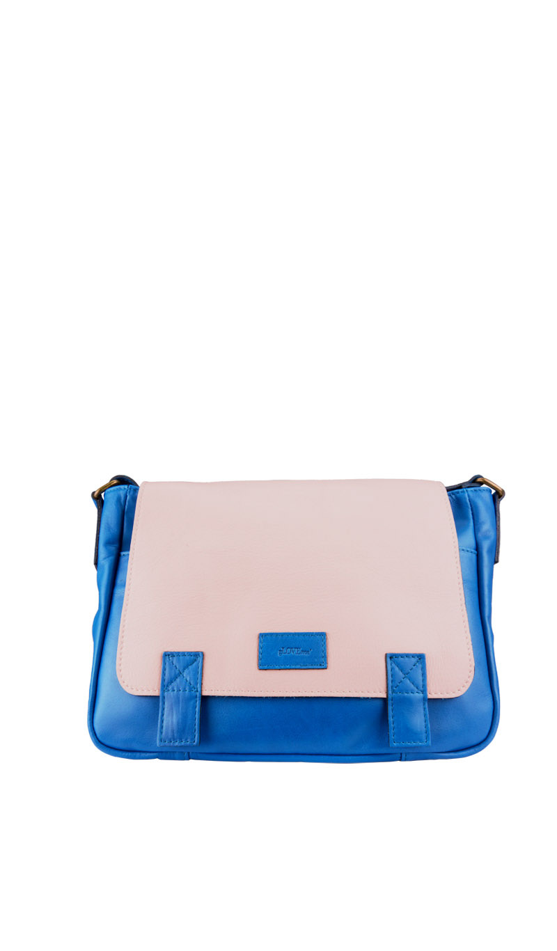 Bag XAVIERE Royal Blue/Pink Cenere