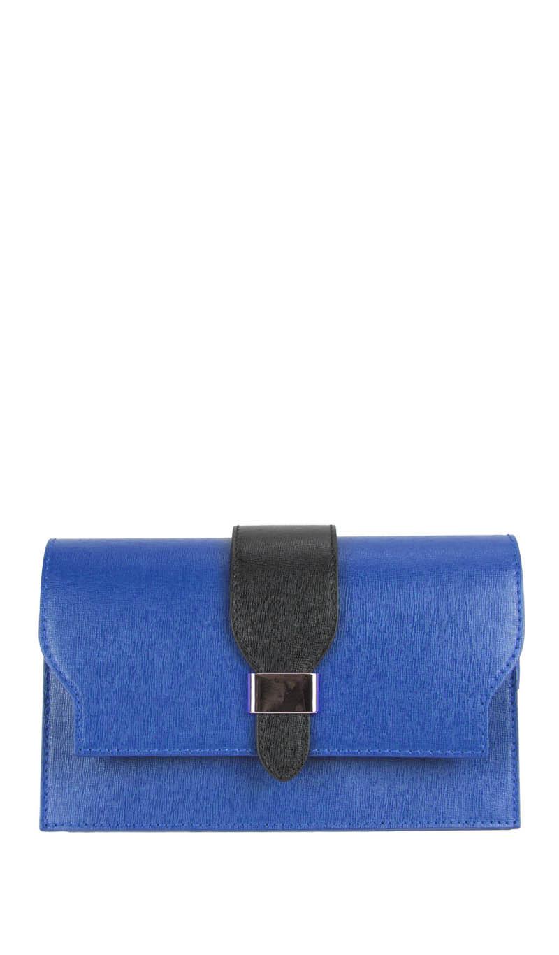 6e4210245c7c Bag SAFFY POCHETTE Electric Blue Black gLOVEme
