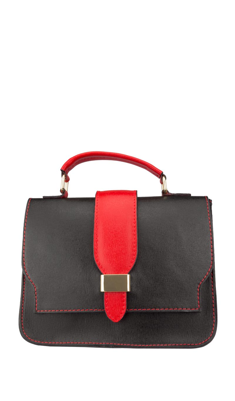 Bag SAFFY LADY Black/Valentino Red