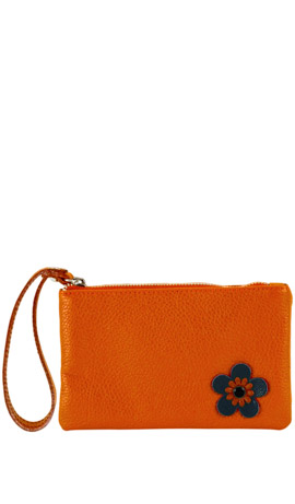 CAMILLA FLOWER ZIP Orange