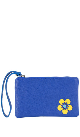 CAMILLA FLOWER ZIP Electric Blue