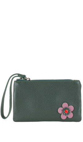 CAMILLA FLOWER ZIP Hunter Green