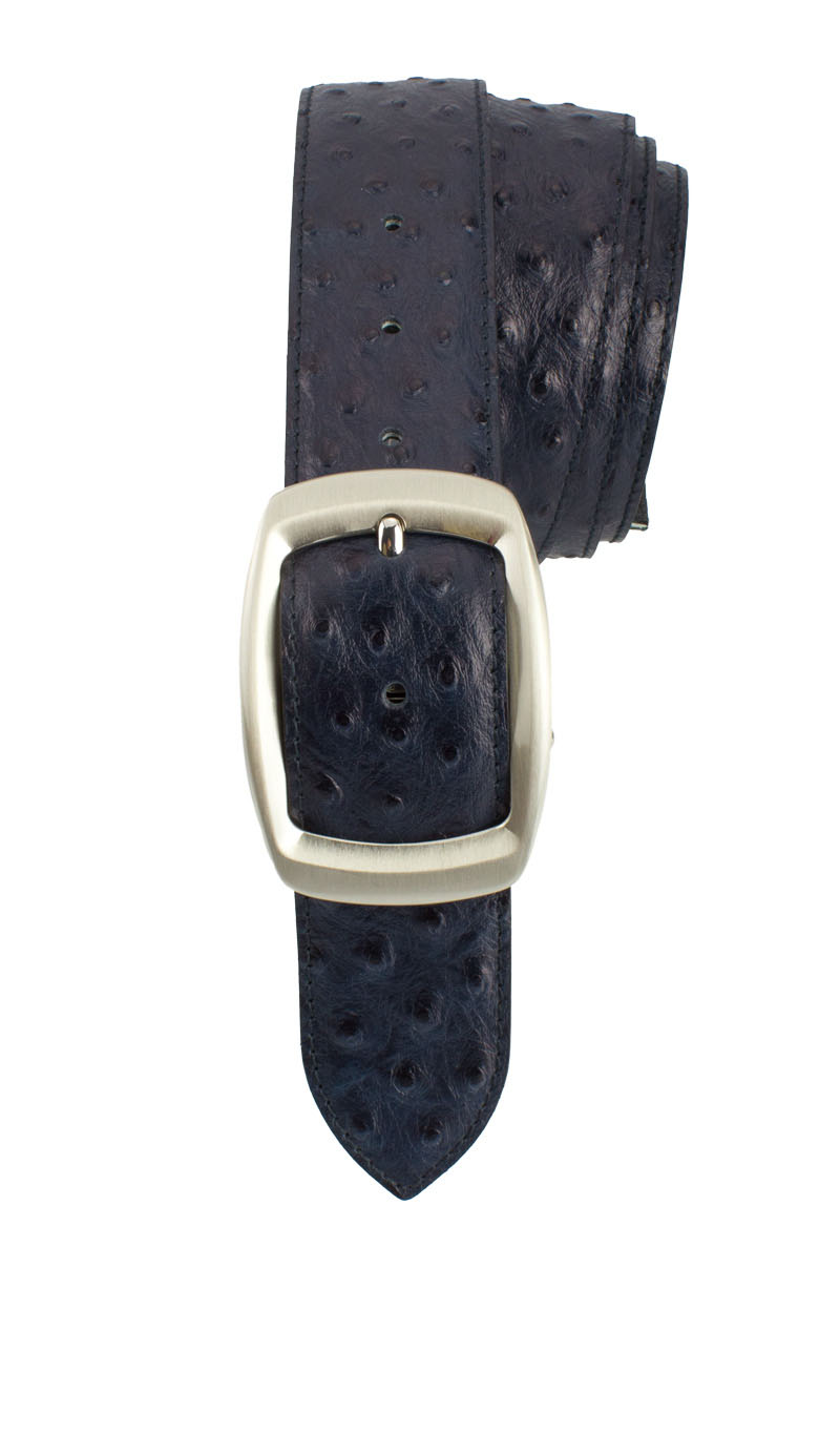 Belt 4 CM OSTRICH Midnight Blue