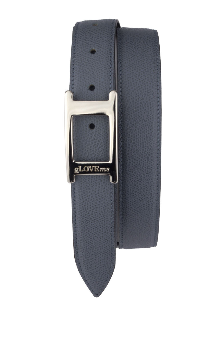 Belt UNIC HAMMERED 3cm Grey Dark